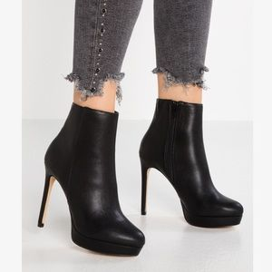 Aldo Leather High Heel Ankle Boots